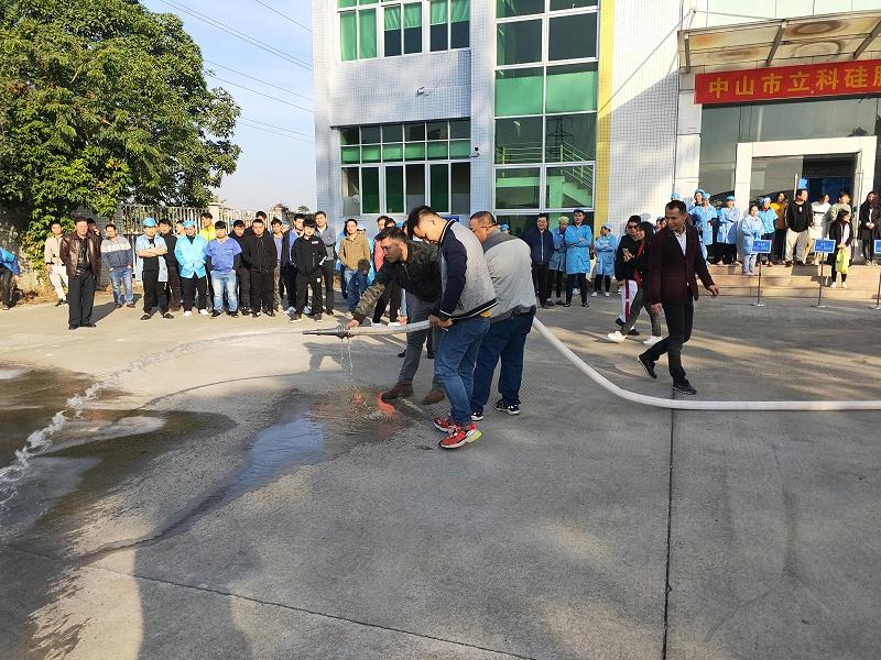 立科硅胶制品厂消防演习